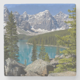 Moraine Lake, Canadian Rockies, Alberta, Canada Stone Coaster