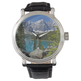 Moraine Lake, Canadian Rockies, Alberta, Canada Wrist Watch