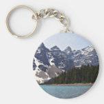 Moraine Lake In Banff Basic Round Button Keychain