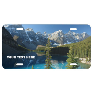 Moraine Lake National Park Custom Customizable License Plate