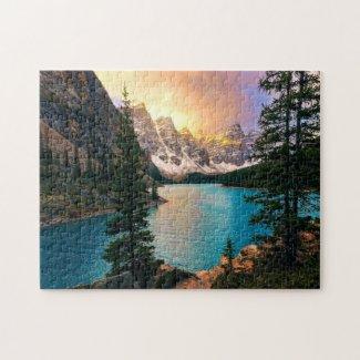 Moraine Lake Sunset Jigsaw Puzzle