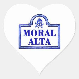 Moral Alta, Granada Street Sign Heart Sticker