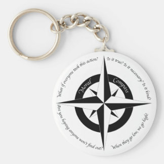 Moral Compass Keychain