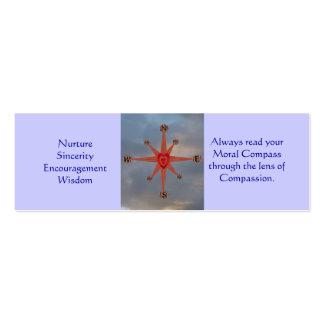 Moral Compass, Mini Bookmarks Mini Business Card