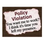 Moral Policy Violation  Postcard