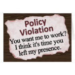 Moral Policy Violation  Stationery Note Card
