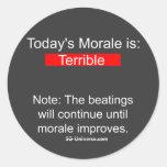 Morale Report Sticker