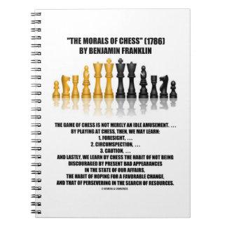 Moralejas del ajedrez reflexivo de Benjamin Cuaderno