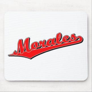 Morales en rojo alfombrillas de ratón