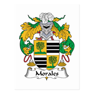 Morales Family Crest Postcard