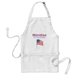 Morales for Congress Patriotic American Flag Adult Apron