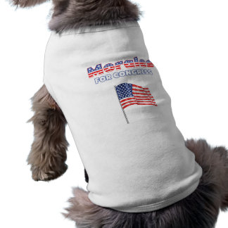 Morales for Congress Patriotic American Flag Dog T-shirt