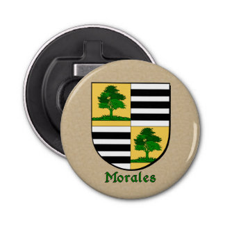 Morales Historical Arms Shield Button Bottle Opener