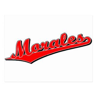Morales in Red Postcard