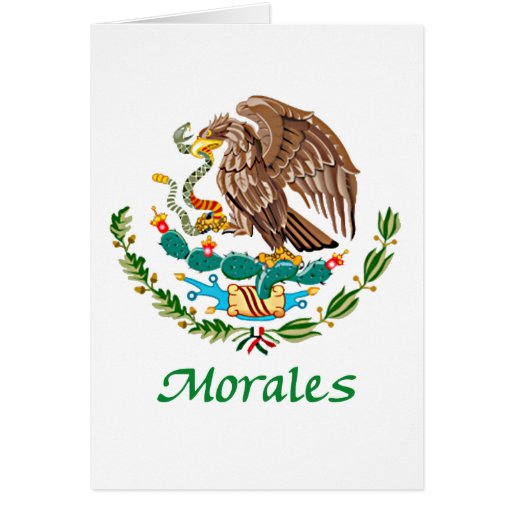 Morales Mexican National Seal Greeting Cards