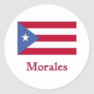 Morales Puerto Rican Flag Classic Round Sticker
