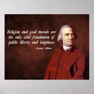 Moralidad de Samuel Adams Poster