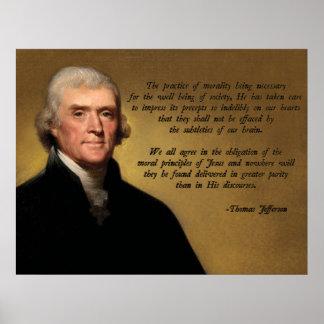 Moralidad del cristiano de Jefferson Póster
