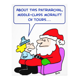 moralidad patriarcal de la clase media de Papá Noe Tarjetones