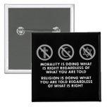 Moralidad y religión pins