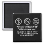 Morality and Religion 2 Inch Square Magnet