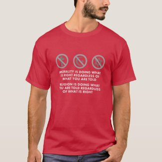 Morality and Religion atheist shirt