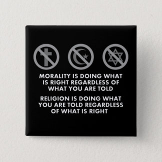 Morality and Religion Button