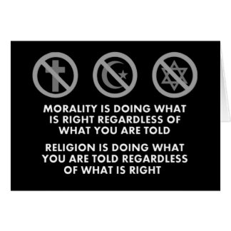 Morality and Religion Card