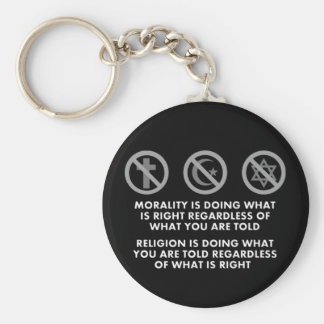 Morality and Religion Keychain
