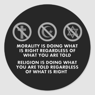 Morality and Religion Stickers
