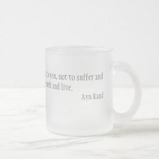 Morality 10 Oz Frosted Glass Coffee Mug
