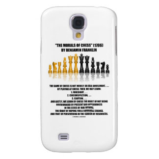 Morals Of Chess Benjamin Franklin Reflective Chess Galaxy S4 Case