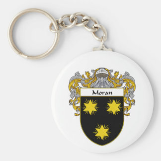Moran Coat of Arms (Mantled) Basic Round Button Keychain