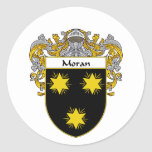 Moran Coat of Arms (Mantled) Classic Round Sticker