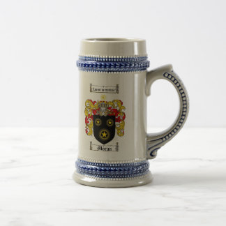 Moran Coat of Arms Stein 18 Oz Beer Stein