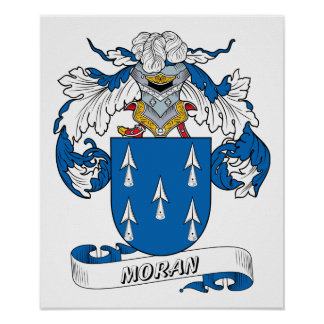 Moran Family Crest Poster