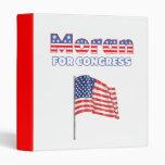 Moran for Congress Patriotic American Flag 3 Ring Binders
