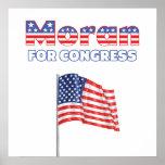 Moran for Congress Patriotic American Flag Posters