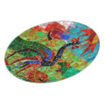 Morano Rooster Mosaic Plates
