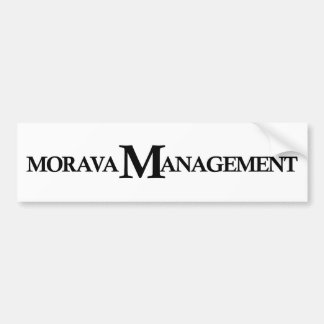 Morava Management Bumper Sticker