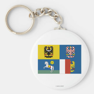 Moravia-Silesia Flag Key Chains