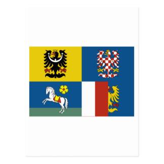 Moravia-Silesia Flag Postcard