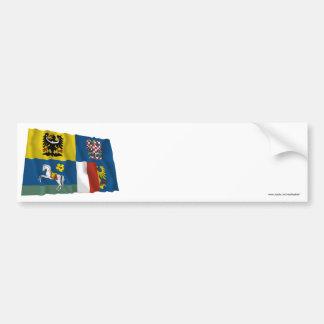 Moravia-Silesia Waving Flag Bumper Sticker