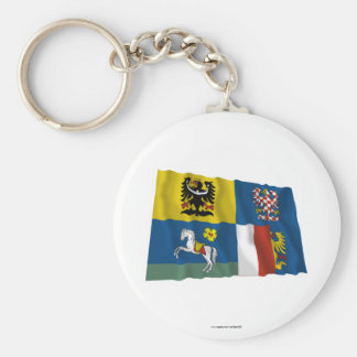 Moravia-Silesia Waving Flag Key Chain