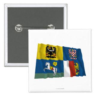 Moravia-Silesia Waving Flag Pinback Button