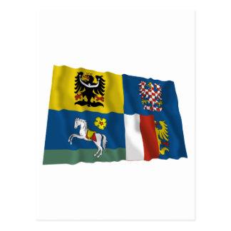 Moravia-Silesia Waving Flag Postcard
