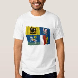 Moravia-Silesia Waving Flag Tee Shirt