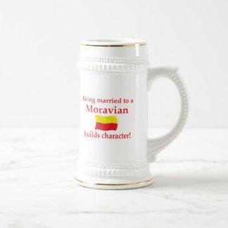 Moravian Builds Character Beer Stein