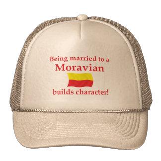 Moravian Builds Character Trucker Hat