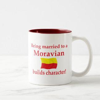 Moravian Builds Character Two-Tone Coffee Mug